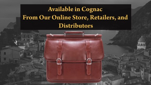 Siamod Manarola Collection Signorini Double Compartment Laptop Briefcase - image 10 from the video