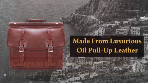 Siamod Manarola Collection Signorini Double Compartment Laptop Briefcase - image 4 from the video