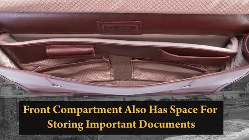 Siamod Manarola Collection Signorini Double Compartment Laptop Briefcase - image 6 from the video