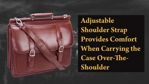 Siamod Manarola Collection Signorini Double Compartment Laptop Briefcase - image 7 from the video