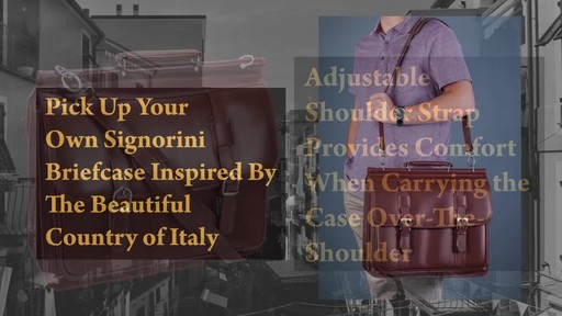 Siamod Manarola Collection Signorini Double Compartment Laptop Briefcase - image 8 from the video