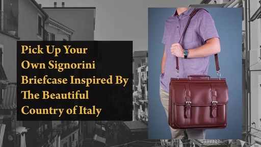 Siamod Manarola Collection Signorini Double Compartment Laptop Briefcase - image 9 from the video