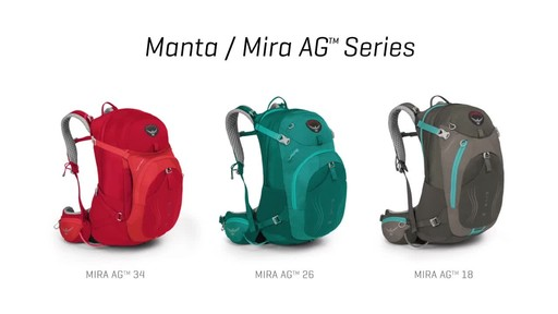 Osprey Manta and Mira Hiking Packs - image 3 from the video