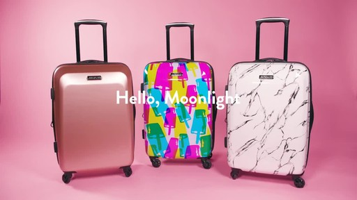 American Tourister Moonlight Expandable Hardside Spinner Luggage - image 1 from the video