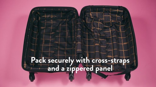 American Tourister Moonlight Expandable Hardside Spinner Luggage - image 6 from the video