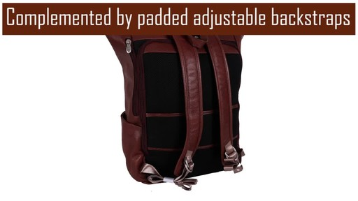 McKlein USA Kennedy Dual Access Laptop Backpack - image 4 from the video
