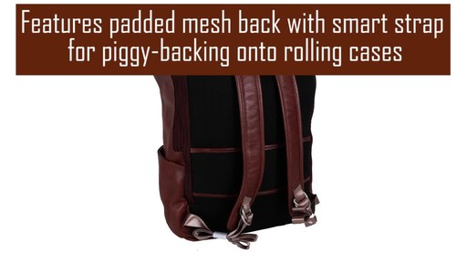 McKlein USA Kennedy Dual Access Laptop Backpack - image 5 from the video