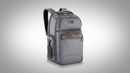 Briggs & Riley @work Medium Cargo Laptop Backpack - image 1 from the video