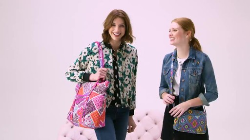 Vera Bradley Iconic Vera Tote - image 1 from the video