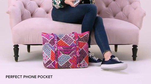 Vera Bradley Iconic Vera Tote - image 2 from the video