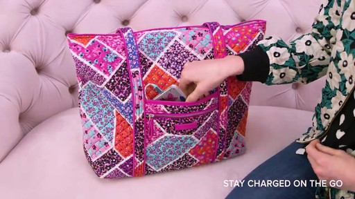 Vera Bradley Iconic Vera Tote - image 4 from the video