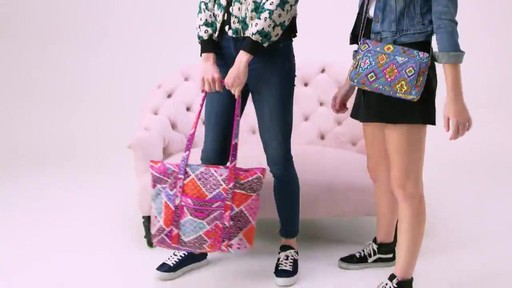 Vera Bradley Iconic Vera Tote - image 6 from the video