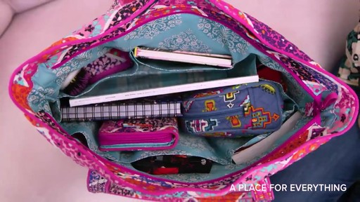 Vera Bradley Iconic Vera Tote - image 7 from the video