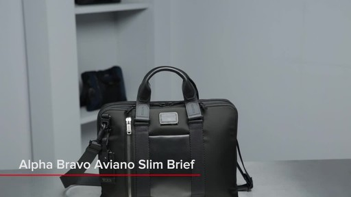 Tumi Alpha Bravo Aviano Slim Brief - image 1 from the video
