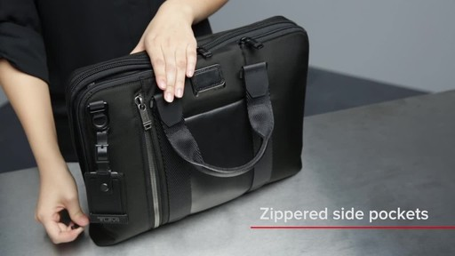 Tumi Alpha Bravo Aviano Slim Brief - image 5 from the video