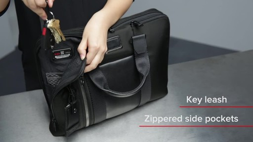 Tumi Alpha Bravo Aviano Slim Brief - image 6 from the video