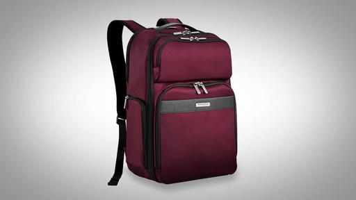 Briggs & Riley Transcend VX Cargo Laptop Backpack - image 1 from the video