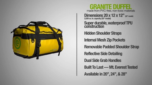 ecogear Granite Duffle - image 10 from the video