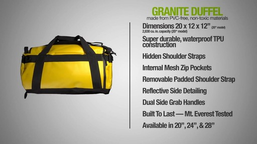 ecogear Granite Duffle - image 8 from the video