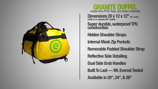 ecogear Granite Duffle - image 9 from the video