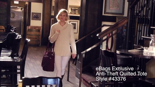 Travelon Anti-Theft Quilted Tote - Exclusive - image 1 from the video