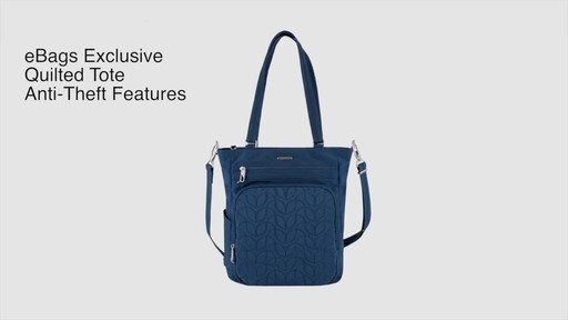 Travelon Anti-Theft Quilted Tote - Exclusive - image 2 from the video