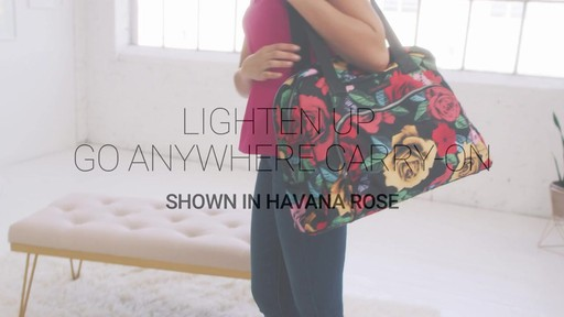 Vera Bradley Lighten Up Go Anywhere Carry-On - on eBags.com - image 1 from the video