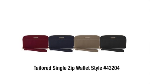 Travelon RFID Anti-Theft Tailored Single Zip Wallet - image 10 from the video