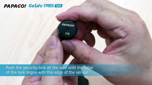 PAPAGO GoSafe TMPS 100 Wireless Tire Pressure Monitoring System with LED Color Display - image 7 from the video