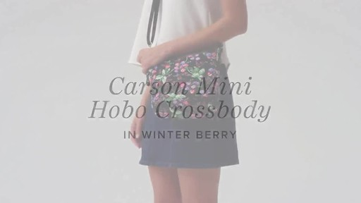 Vera Bradley Carson Mini Hobo Crossbody - image 1 from the video