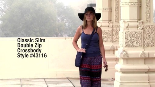 Travelon Anti-Theft Classic Slim Double Zip Crossbody Bag - Shop eBags.com - image 1 from the video