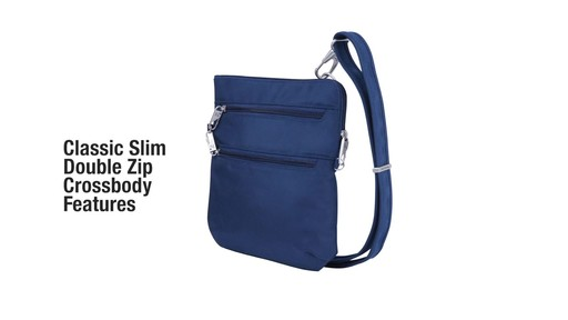 Travelon Anti-Theft Classic Slim Double Zip Crossbody Bag - Shop eBags.com - image 2 from the video