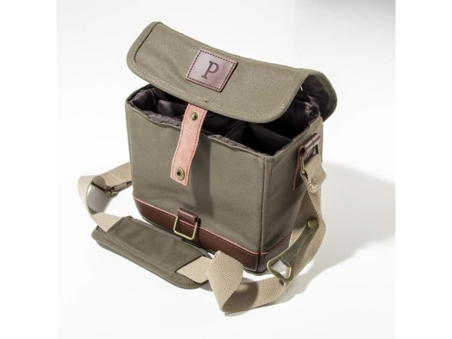 Cathy's Concepts Personalized Insulated Waxed Canvas Bottle Carrier - image 1 from the video