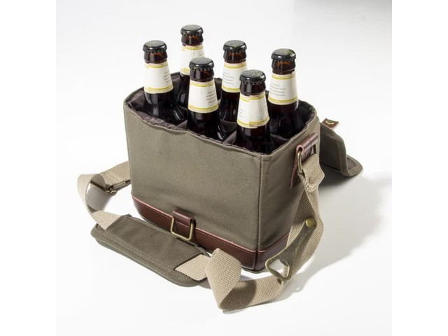 Cathy's Concepts Personalized Insulated Waxed Canvas Bottle Carrier - image 9 from the video