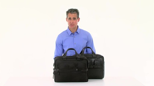 Tumi Alpha 2 Expandable Organizer Laptop Brief - eBags.com - image 10 from the video