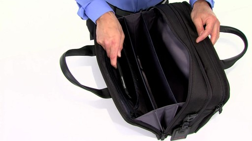 Tumi Alpha 2 Expandable Organizer Laptop Brief - eBags.com - image 2 from the video