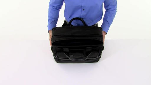Tumi Alpha 2 Expandable Organizer Laptop Brief - eBags.com - image 3 from the video