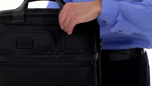 Tumi Alpha 2 Expandable Organizer Laptop Brief - eBags.com - image 6 from the video