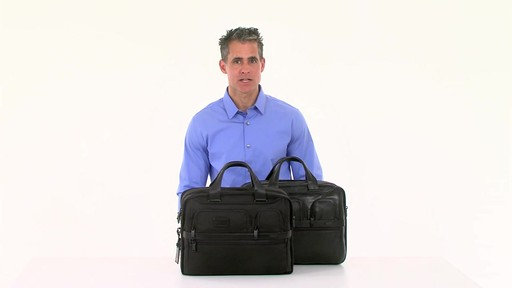 Tumi Alpha 2 Expandable Organizer Laptop Brief - eBags.com - image 7 from the video