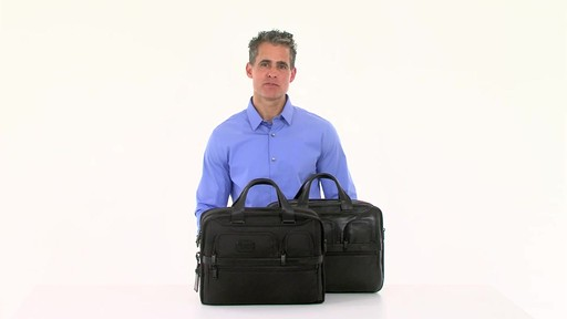 Tumi Alpha 2 Expandable Organizer Laptop Brief - eBags.com - image 8 from the video