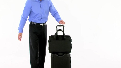 Tumi Alpha 2 Expandable Organizer Laptop Brief - eBags.com - image 9 from the video