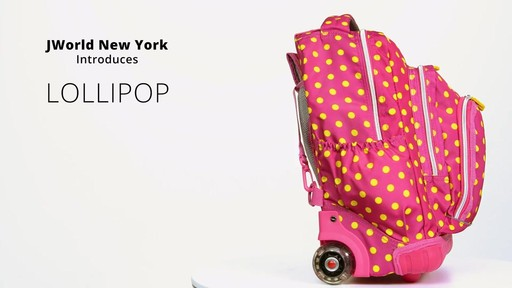 J World New York Lollipop Kids Rolling Backpack with Lunch Bag - on eBags.com - image 3 from the video