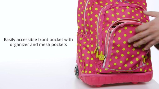J World New York Lollipop Kids Rolling Backpack with Lunch Bag - on eBags.com - image 8 from the video