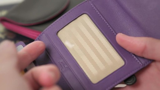 Royce Leather RFID Blocking Ladies Wallet - image 5 from the video