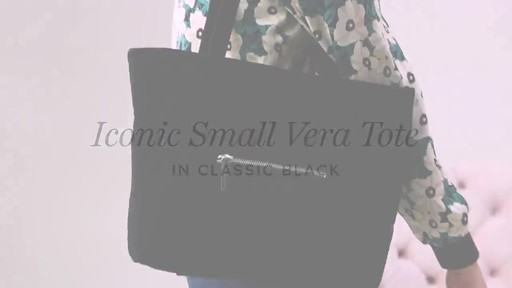 Vera Bradley Iconic Small Vera Tote - image 1 from the video