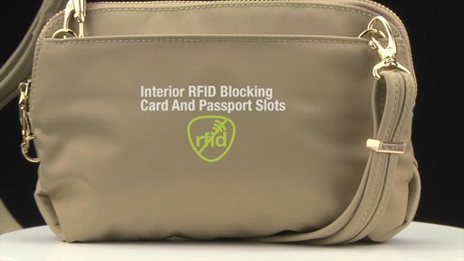 Travelon Anti-Theft Tailored Convertible Crossbody Clutch - image 4 from the video