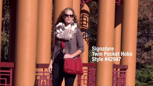 Travelon Anti-Theft Signature Twin Pocket Hobo - eBags.com - image 1 from the video