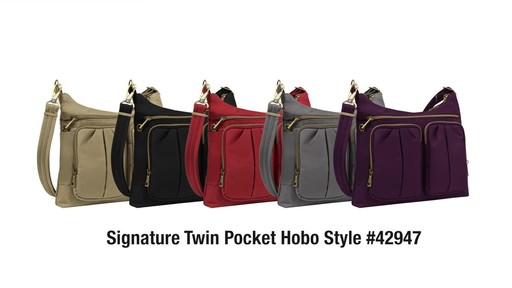 Travelon Anti-Theft Signature Twin Pocket Hobo - eBags.com - image 10 from the video