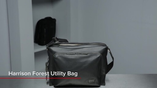 Tumi Harrison Forest Leather Utility Bag - image 1 from the video