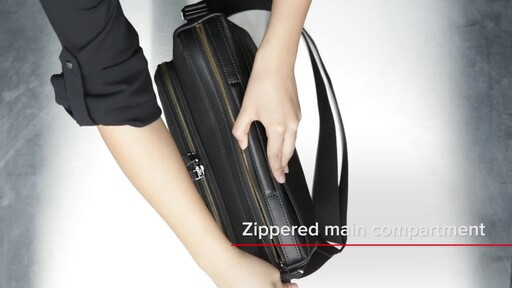 Tumi Harrison Forest Leather Utility Bag - image 8 from the video